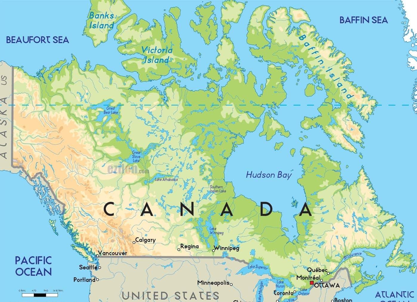 خريطة كندا بالعربي ملف كامل حول أهم المعالم الجغرافية الكندية تعرف عليها الآن