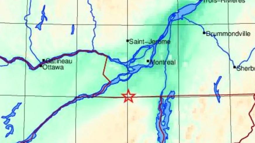 زلزال بقوة 3.6 يضرب بعض المناطق في كيبيك